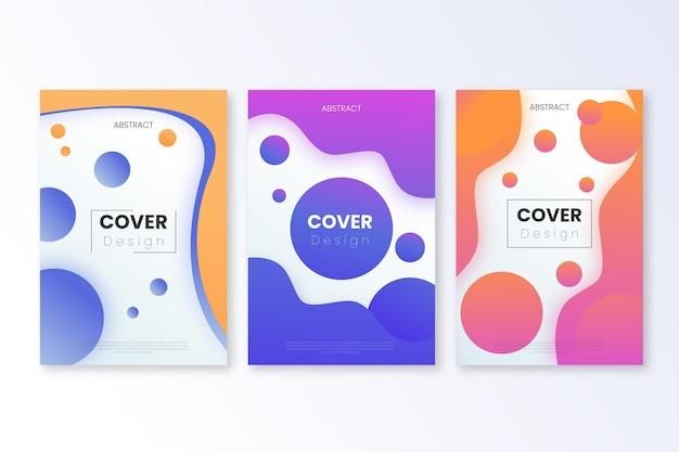Cover set met gradiënt abstracte vormen