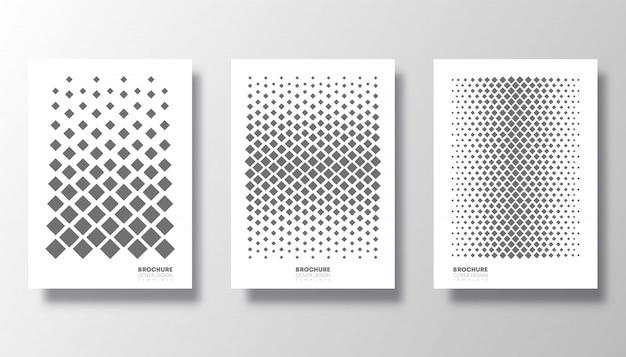 Cover set met rhombus patroon ingesteld.