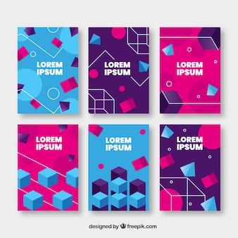 Cover sjablooncollectie met geometrisch ontwerp