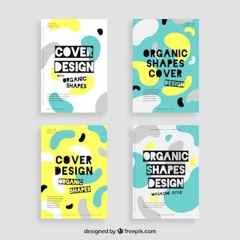 Cover sjablooncollectie met organische vormen