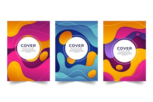 Covercollectie met abstracte vormen in verloopstijl
