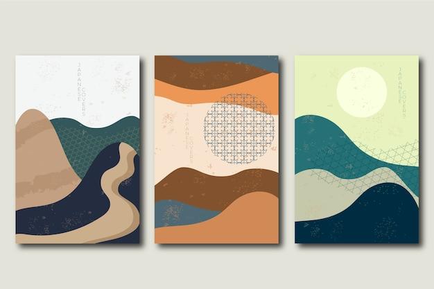 Covercollectie met minimalistisch japans concept