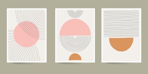Covercollectie van abstracte kunst