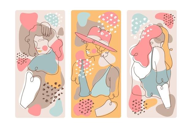 Covers met abstracte vormen