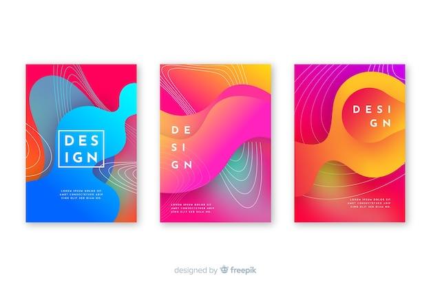 Covers met kleurrijk vloeibaar effect