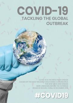 Covid-19 aanpakt de wereldwijde uitbraaksjabloonbron who-vector