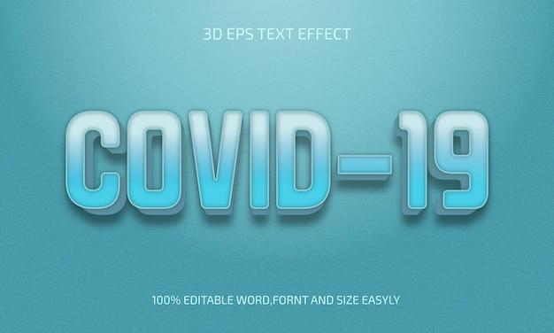 Covid 19 bewerkbaar 3d-tekststijleffect