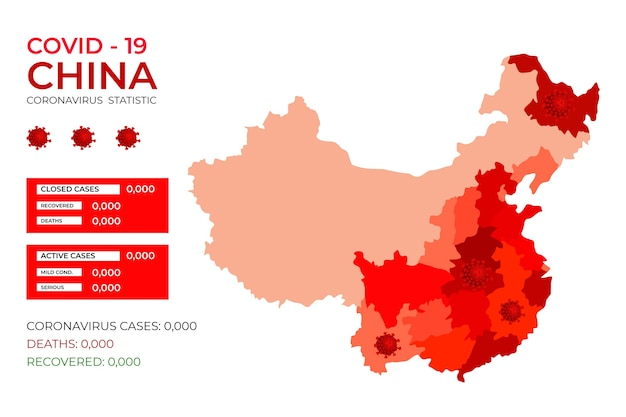 Covid-19 china geïnfecteerd door virus infographic