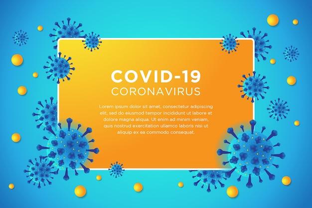 Covid-19 corona virus blauwe achtergrond