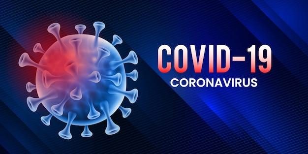 Covid-19 corona virus global pandemic lockdown banner design