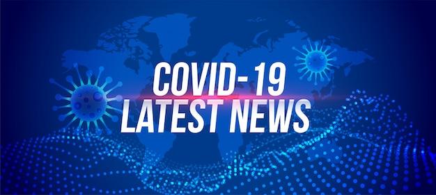 Covid-19 coronavirus laatste nieuws en updates van bannerontwerp
