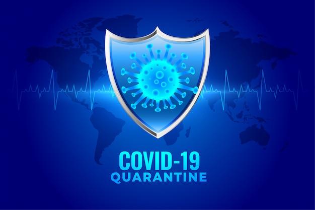 Covid-19 coronavirus quarantaine bescherming medisch schildontwerp