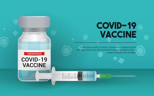 Covid-19 coronavirus vaccin illustratie.