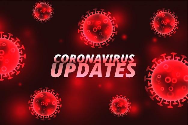 Covid-19 coronavirus werkt infectie rood concept bij
