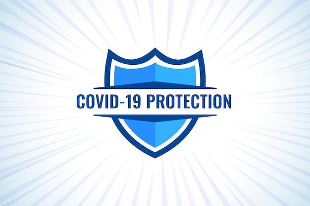 Covid-19 coronavirusbeschermingsschild voor medisch gebruik