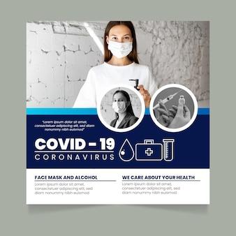 Covid 19 flyer-sjabloon