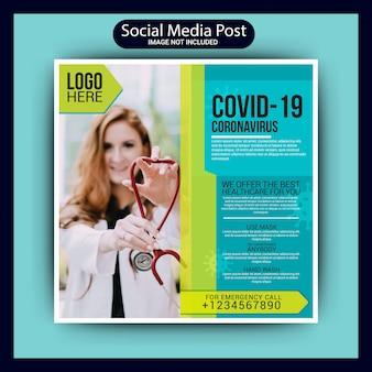 Covid 19 medische post op sociale media