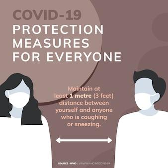 Covid-19 protectin maatregelen coronavirus bewustzijnsbericht