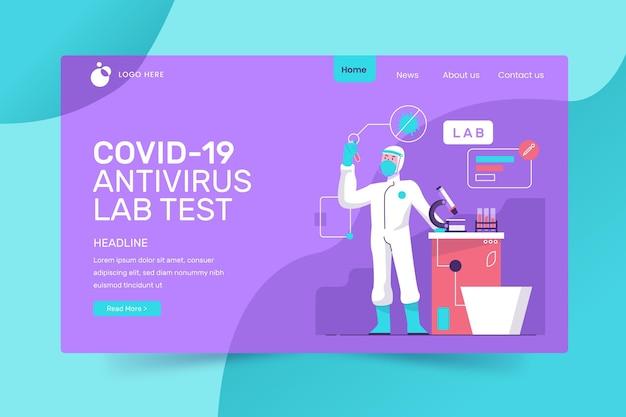 Covid-19 test bestemmingspagina-stijl