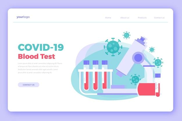 Covid-19 testlandingspagina