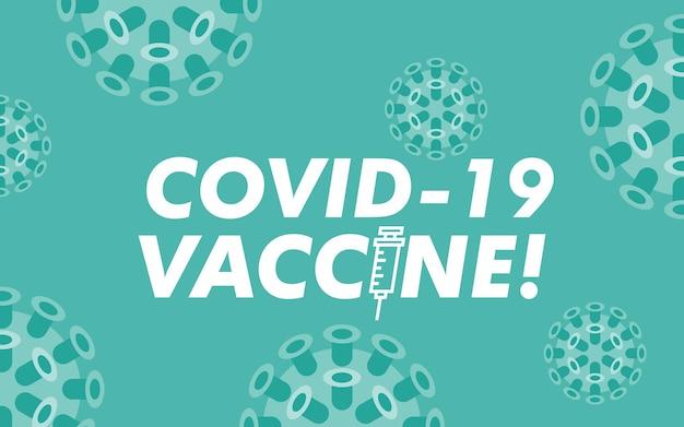 Covid-19 vaccin logo sjabloon, corona virus vaccin logo sjabloon