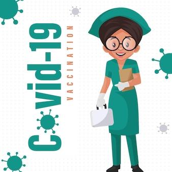 Covid 19 vaccinatie banner ontwerpsjabloon