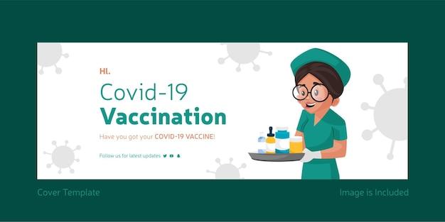 Covid 19-vaccinatie facebook-omslagontwerp