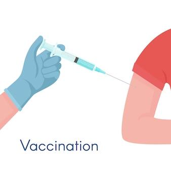 Covid-19 vaccinatie toegediend door een medisch werker of gezondheidswerker
