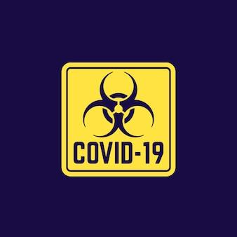 Covid-19-virus, biologisch gevaarlijk teken,