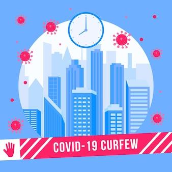 Covid-avondklok in de stad na een speciaal uur