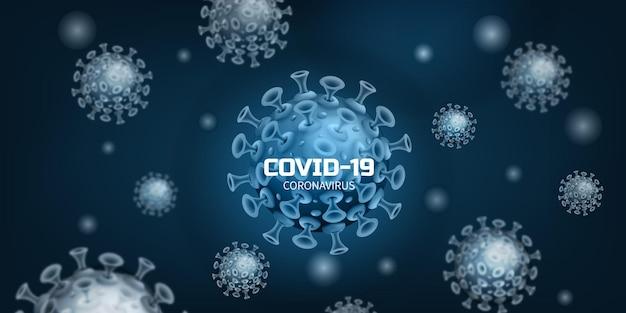 Covid corona-virusinfectie of bacterie in de vorm van een illustratie