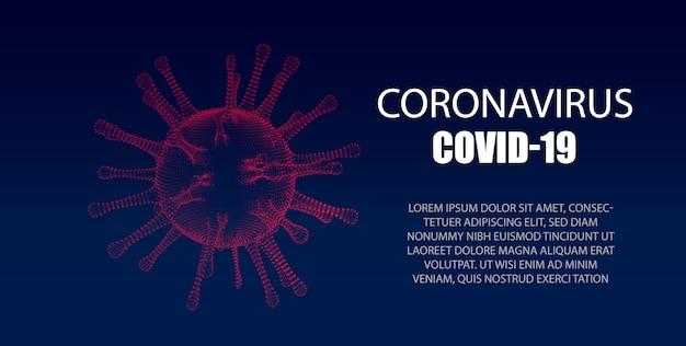 Covid19. corona-uitbraak. coronaviruses influenza-achtergrond, virale epidemie, illustratie van virus