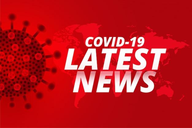 Covid19 coronavirus laatste nieuws update achtergrondontwerp