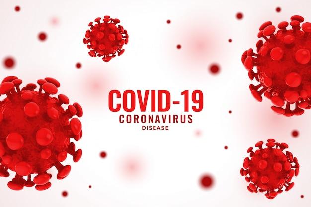 Covid19 coronavirus rode viruscel achtergrond concept verspreid