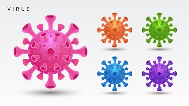 Covid19-virus. coronavirus. illustratie.