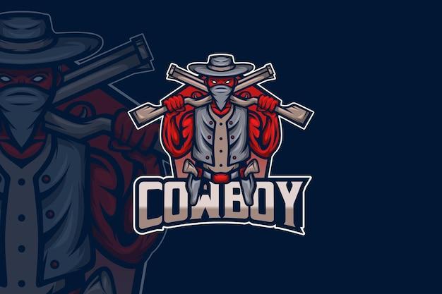 Cowboy - esport-logo sjabloon