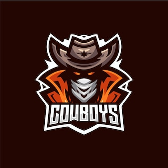 Cowboy esport logo sjabloon