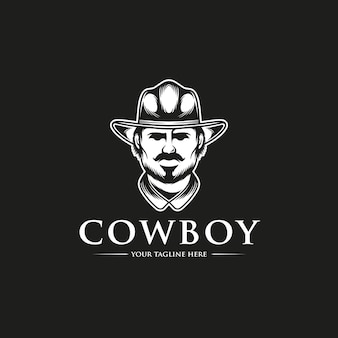 Cowboy hoofd logo sjabloon