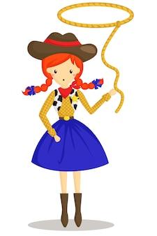 Cowboy lang meisje