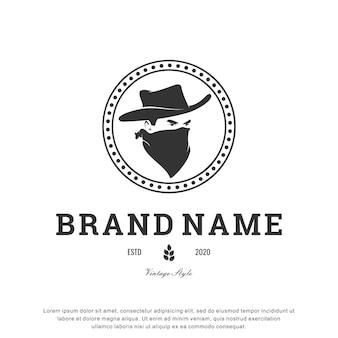 Cowboy logo inspiratieontwerp