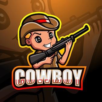 Cowboy mascotte esport illustratie