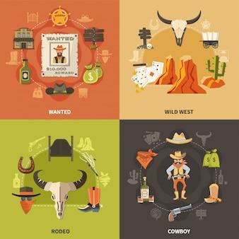 Cowboy ontwerpconcept