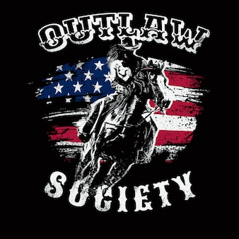 Cowboy outlaw illustratie thema