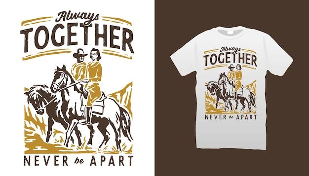 Cowboy paar illustratie