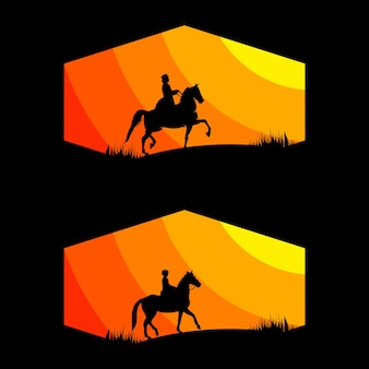 Cowboy tekening vector logo afbeelding