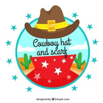 Cowboyhoed en sjaal