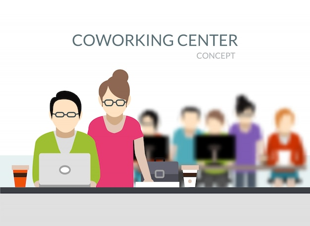 Coworking center-samenstelling