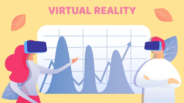 Coworking in virtual reality vector illustration