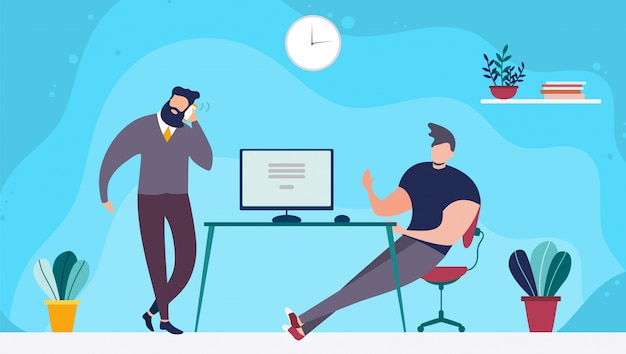 Coworking kantoorruimte en mensen die samenwerken