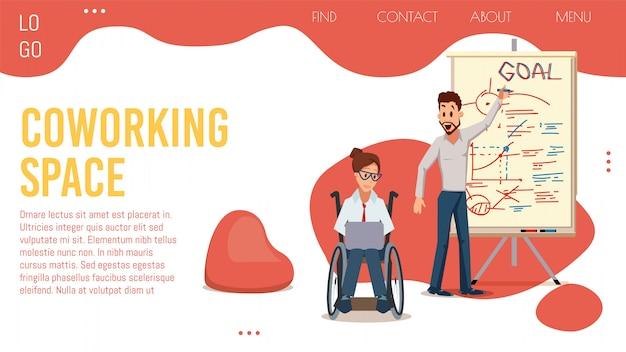 Coworking office center platte webpagina